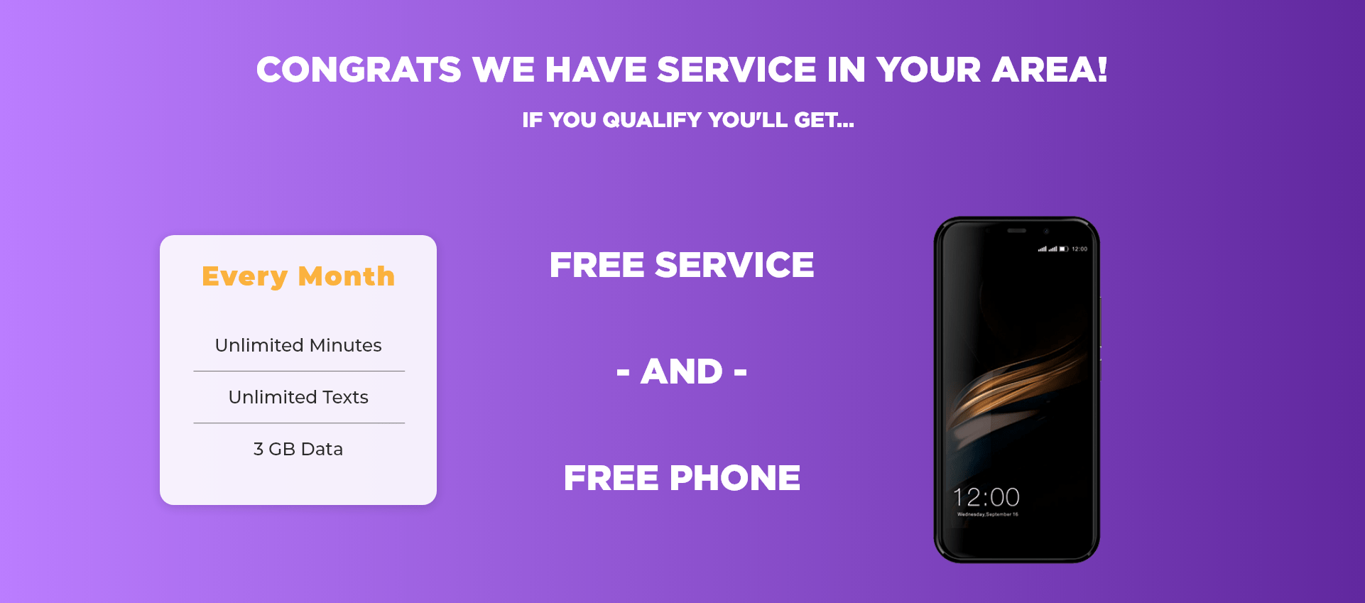 Free Monthly Minutes Text Data Stand Up Wireless